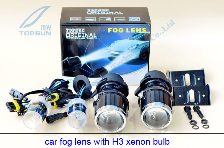 GZTOPHID HID 35W Halogen Bulb H3 Kit Universal Fog Lamp 12V Car Auto Light Projector Fog Lens,Profession Car Accessories guangzhou auto light car fog projector lens without bulb car lights 2 2 inch universal type