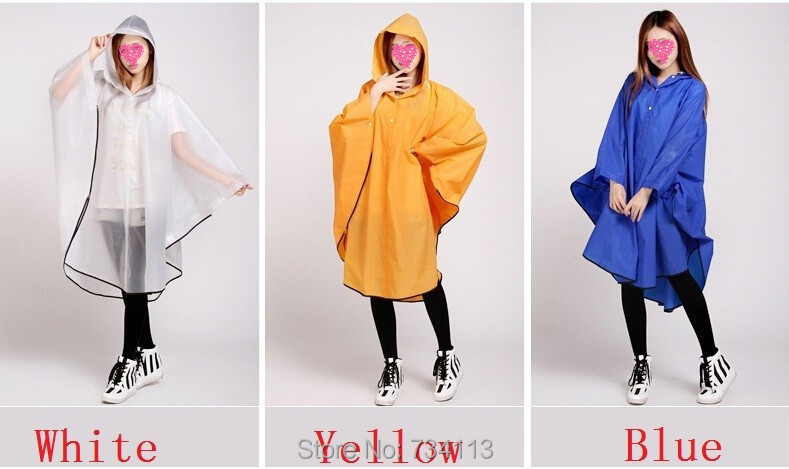Fashion Rain ponchoEnvironmental protection EVA outdoor Rain gear - Household Merchandises - Photo 5
