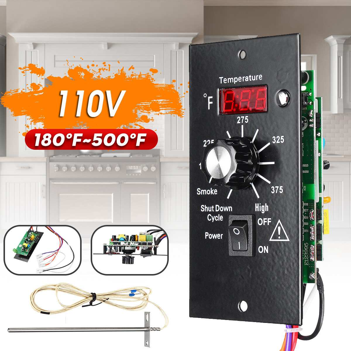 Digital Thermostat Control Board+Probe For Traeger Wood Pellet Grills #BAC236 Display Fireplace Parts