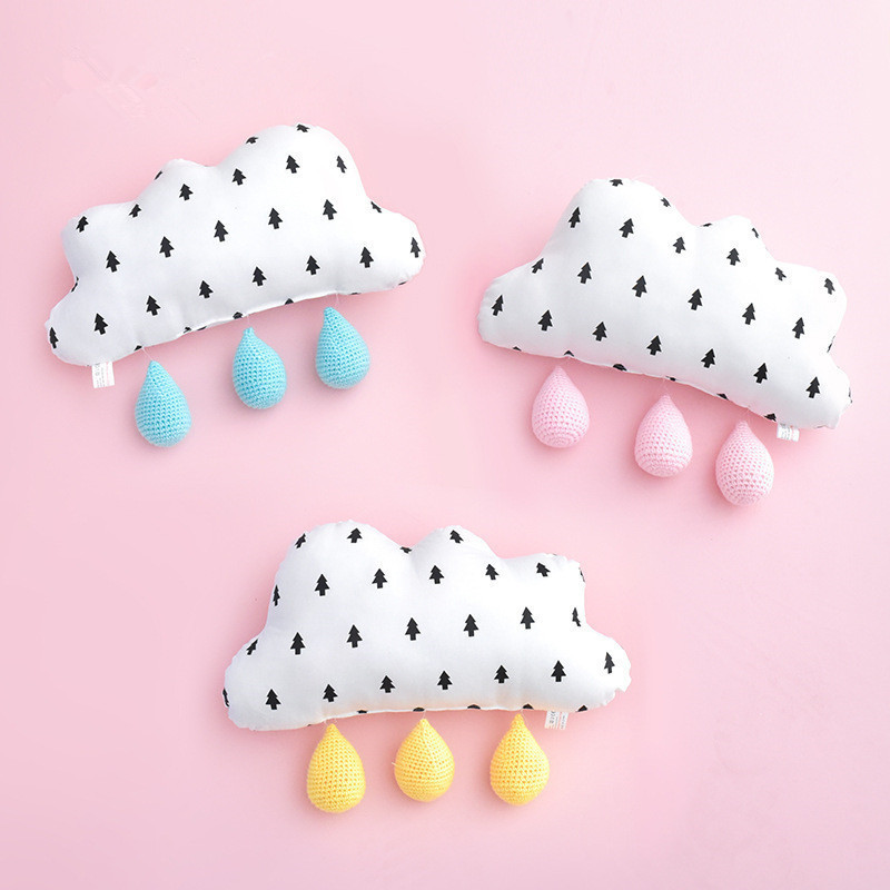 Nordic Cloud Pillows Toys Baby Girls Kids Room Decorative Cushions Stuffed 3D Cloud Wall Hanging Decoration Photography Props