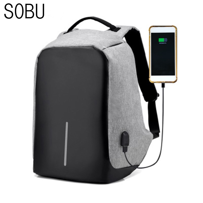 New USB Charge Anti Theft Backpack Men Travel Security Waterproof School Bags College Teenage Male 15inch Laptop Backpack H041 sopamey usb charge men anti theft travel backpack 16 inch laptop backpacks for male waterproof school backpacks bags wholesale