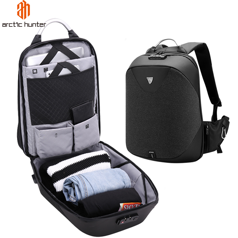 ARCTIC HUNTER Anti theft Lock Design Men s Laptop Backpack 15 6 USB Port Waterproof Travel