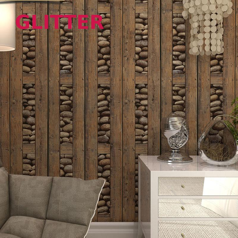 3d Stone Wallpaper For Livingroom Vinyl Wood Wallpaper Roll For Walls Vintage Wall Paper Waterproof Pvc Wallpapers Contact Paper american vintage wall paper waterproof pvc wallpapers retro wood wallpaper 3d personalized letter wallpaper roll for cafe shop page 4