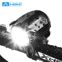 INBIKE Mini Led Bicycle Light Bike Headlight Headlamp Aluminum IPX 6 Waterproof MTB Road Cycling Flash