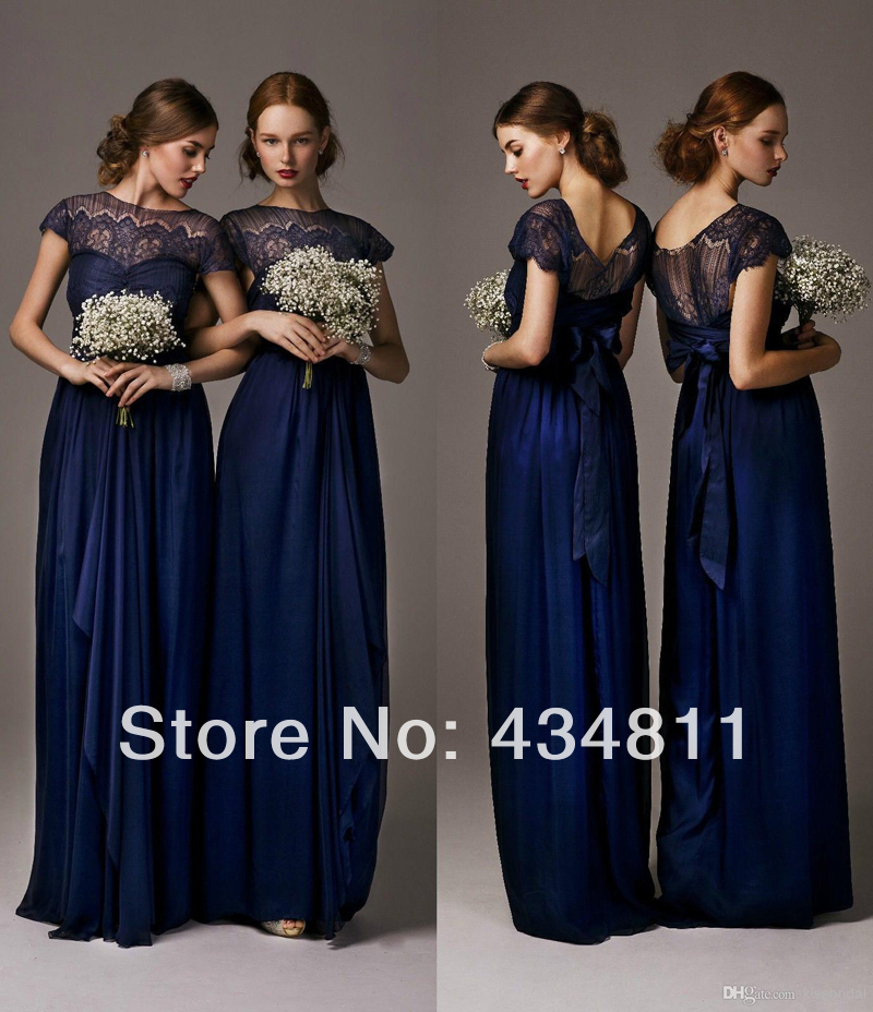 Elegant Lace Sleeve Short Wedding Dresses 2016 Scoop Neck: Elegant Sheer Scoop Neckline Short Sleeve A Line Chiffon