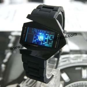 Case Watches Electronic High-New-Arrival Digital Fashion-Alloy Led Wrist 100pcs/Lot Airplane