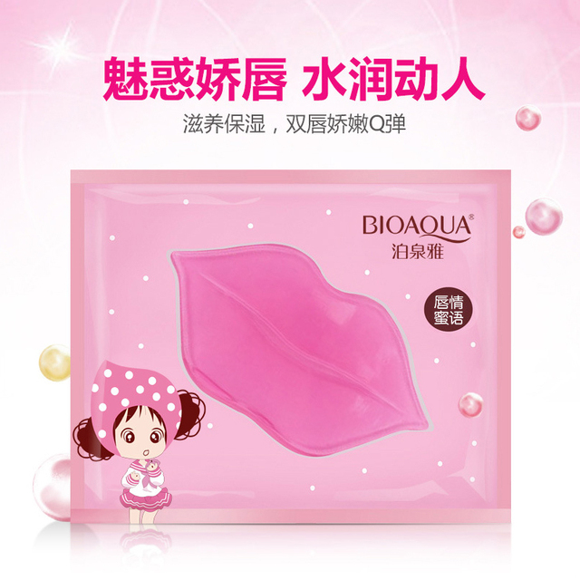 BIOAQUA Skin Care Crystal Collagen Facial Mask Lip Mask Moisture Essence Lip Care Pads Anti Ageing Wrinkle Patch Pad Gel 1