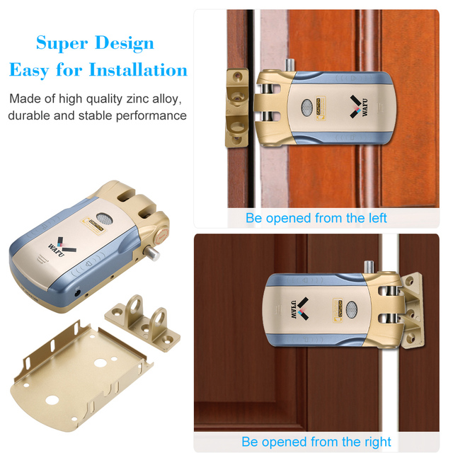 2018 New Wireless Security Invisible Keyless Entry electronic Door Lock Home Smart Remote Control smart Lock with 4 Remote Keys