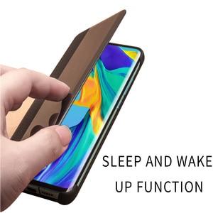 Image 4 - QIALINO אופנה אמיתי עור Flip Case עבור Huawei P30 פרו 6.47 אינץ בעבודת יד טלפון כיסוי עם חכם חלון עבור Huawei p30