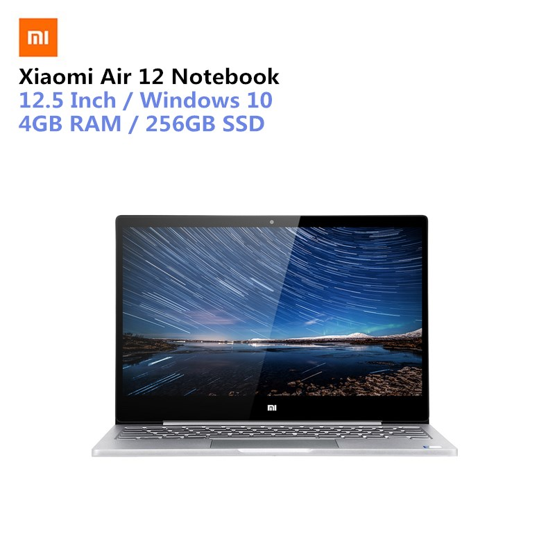 Xiaomi Air 12 Notebook 12.5 Inch Win10 CN Version 7th Gen Intel Core M3-7Y30 Dual Core 1.0GHz 4GB RAM 256GB SSD Bluetooth 4.1