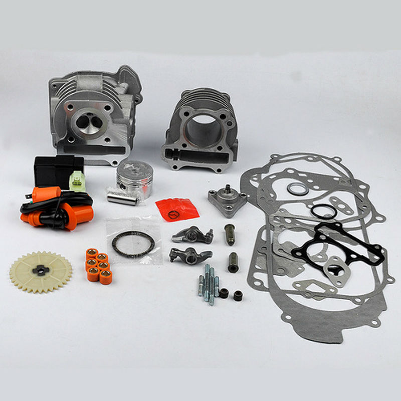 ФОТО New 100cc Cylinder Piston Gasket Set For 139QMB & 1P39QMB /GY6 50cc 100cc 4 Stroke Chinese Scooters