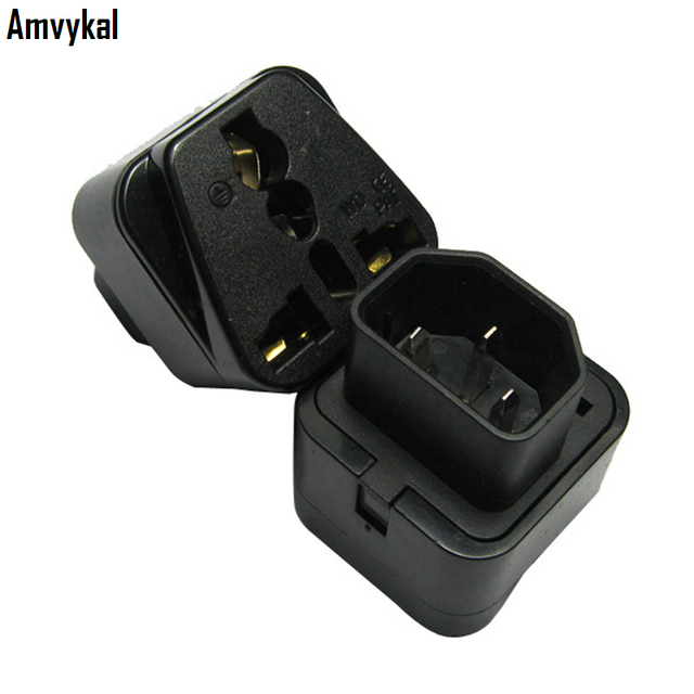 amvykal top quality universal black white female socket to. Black Bedroom Furniture Sets. Home Design Ideas
