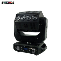 Mini Mirage LED Beam 16x12W RGBW Stage Effect Lighting Led Moving Head Beam Infinite rotation 4IN1 colors, Black Body