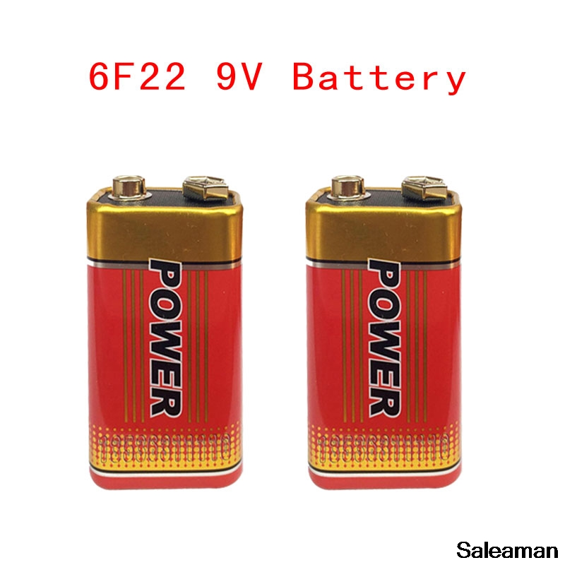 2pcs MJKAA Super Heavy Duty 9V 6F22 Battery Dry Zinc Carbon Battery for Digital Camera Remote Control Toy Smoke Alarm RC Battery