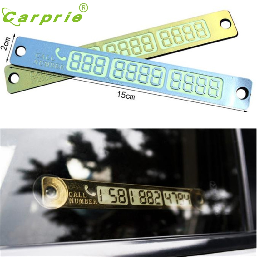 Car Luminous Temporary Parking Card With Suckers And Phone Number Card Plate ja 7
