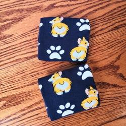Corgi calzini delle donne calze cane sveglio della signora carino calzini del personale tecnico con la zampa welsh corgi butt regalo di compleanno della novità cucciolo 50 COPPIE