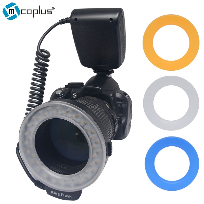 ФОТО Mcoplus RF-550D Ring Flash Speedlite for Canon 5D 6D 7D Mark II 550D 600D  Nikon D7100 D800 D600 Olympus Panasonic DSLR Camera