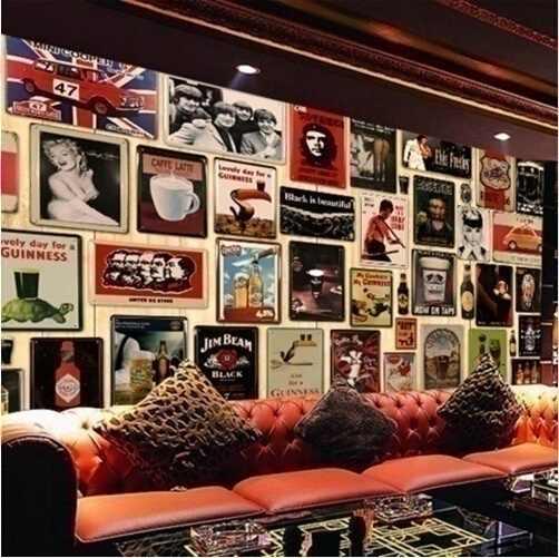15x30 cm Bira Bira Bar Pub Ev Vintage Retro Poster Cafe sanat dekoru Metal Tabela