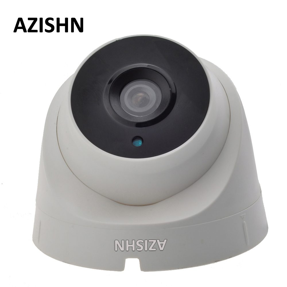 AZISHN IP Camera POE 720P/960P/1080P 3PCS ARRAY LEDS Indoor Dome Security CCTV Surveillance ONVIF 2.0 P2P IR Cut POE Cable 4pcs lot 960p indoor night version ir dome camera 4 in1 camera 3 6mm lens p2p onvif abs plastic housing