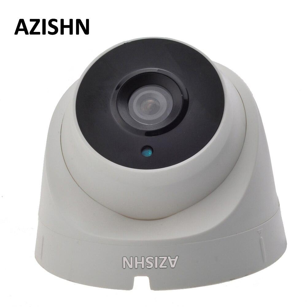 AZISHN IP Camera POE 720P/960P/1080P 3PCS ARRAY LEDS Indoor Dome Security CCTV Surveillance ONVIF 2.0 P2P IR Cut POE Cable