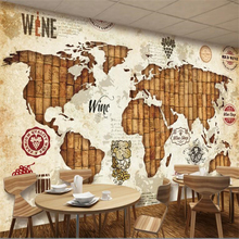 цены beibehang behang Custom High Quality Wallpaper 3d Wall Stickers Mural Vintage World Map Wine Red Oak Wallpaper Restaurant Bar