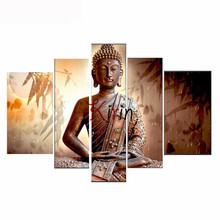 5pcs set Diy 5d full square Diamond painting religious Buddha diamond Cross Stitch Mosaic