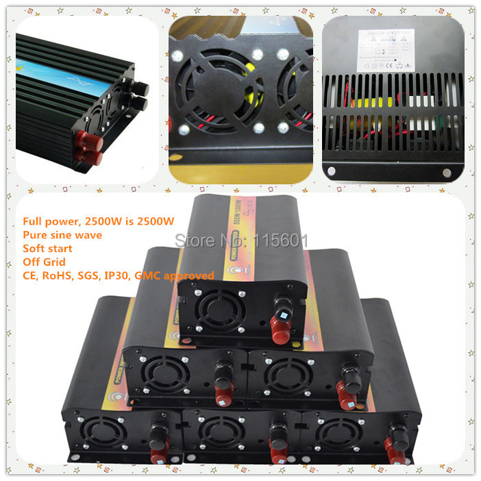 Solar Air Conditioner DC 12v/24v/48v to AC 100-240v inverter 2500W ,Manufacturer Selling one year warranty cnc dc spindle motor 500w 24v 0 629nm air cooling er11 brushless for diy pcb drilling new 1 year warranty free technical support