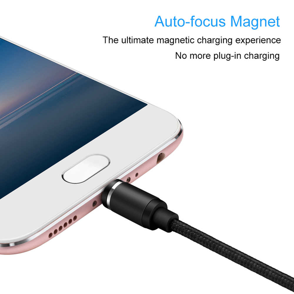 Kabel USB untuk iPhone 7 USB Micro Kabel Micro Magnetic Charger untuk Samsung S9 Xiaomi Ponsel Magnet Micro USB Cabo