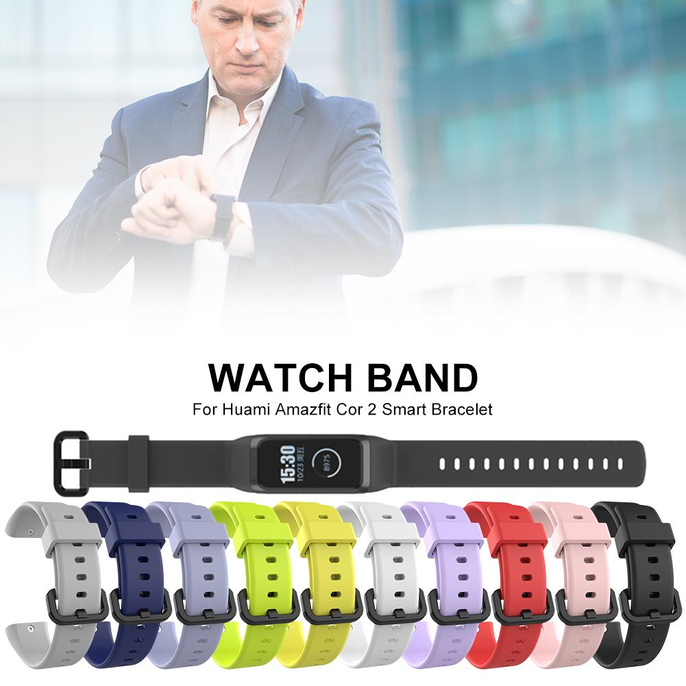 Silicone Replacement <font><b>Strap</b></font> Sports Waterproof Breathable Wristband Watch Band For Huami <font><b>Amazfit</b></font> <font><b>Cor</b></font> <font><b>2</b></font> Smart Bracelet image