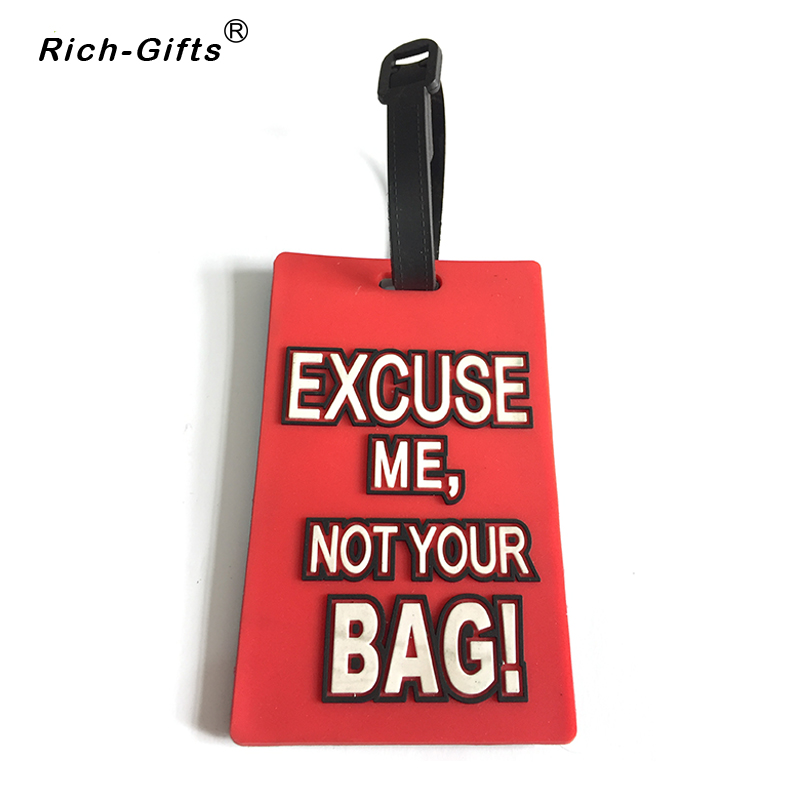 Wholesale Custom Letter Logo Soft Rubber Luggage Tags
