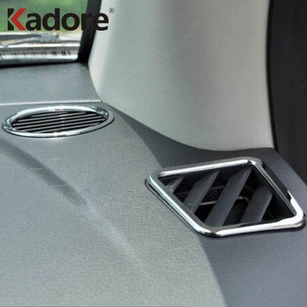For <font><b>Jeep</b></font> <font><b>Compass</b></font> 2011 <font><b>2012</b></font> 2013 2014 2015 ABS <font><b>Chrome</b></font> Dashboard Air Conditioning Vent Cover Trim Car Interior Accessories image