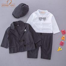 NYAN CAT Baby boys wedding party suits 3pcs gentlemen clothing set black hat +romper+jacket 2019 cool fashion new style Birthday d61d1bda5984