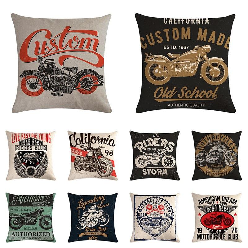 Self-Conscious Fashion Skull Printed Pillowcase Cushion Black Punk Style Cotton Linen Home Decorative Car Sofa Chair Throw Pillows Cheap Sales Home & Garden Home Textile