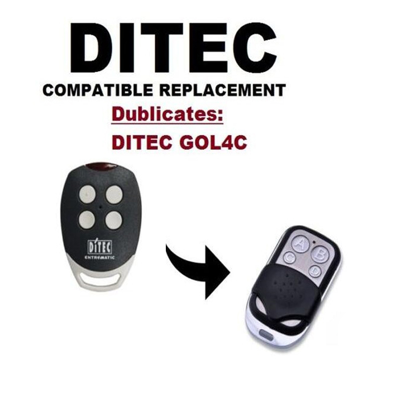 1pcs FOR DITEC GOL4C Garage Door/Gate Remote Control Replacement Duplicator