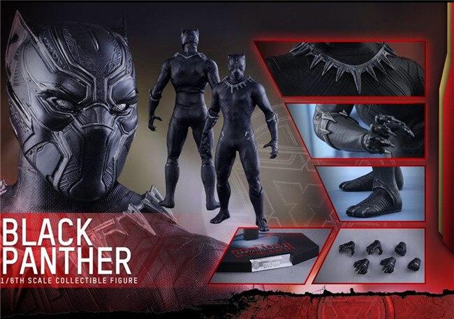 L'infinito Guerra Avengers original est une poupée jouet en PVC de 30 cm de long de super-héros Pantera Negra BJD