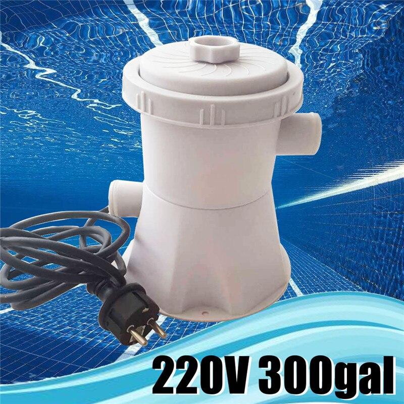 220 v Elettrico Piscina Pompa Filtro Pulito Chiaro Sporco Pompe Stagno di Acqua Pompa di Circolazione Filtro Acqua Sistema di Pompa 300gal