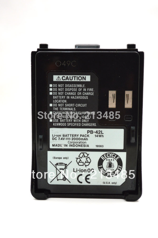 PB-42L 1550mAh DC 7.4V Li-ion Battery Pack For Kenwood TH-F6 TH-F6A TH-F6E TH-F7 TH-F7A TH-F7E