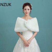 NZUK Hot Sale Cheap Fashion Wedding Jacket Bride Wraps Winter Wedding Dress Wraps Bolero Bridal Coat
