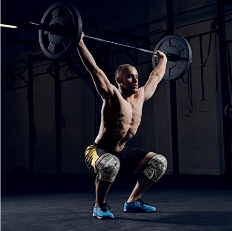Manches genoux (1 paire) soutien & Compression pour haltérophilie, Powerlifting & CrossFit-manchon néoprène 7mm pour les meilleurs Squats