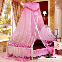 Lace Design Princess Hung Dome Mosquito Net Insect Bed Canopy Netting Lace Round Mosquito Nets Single