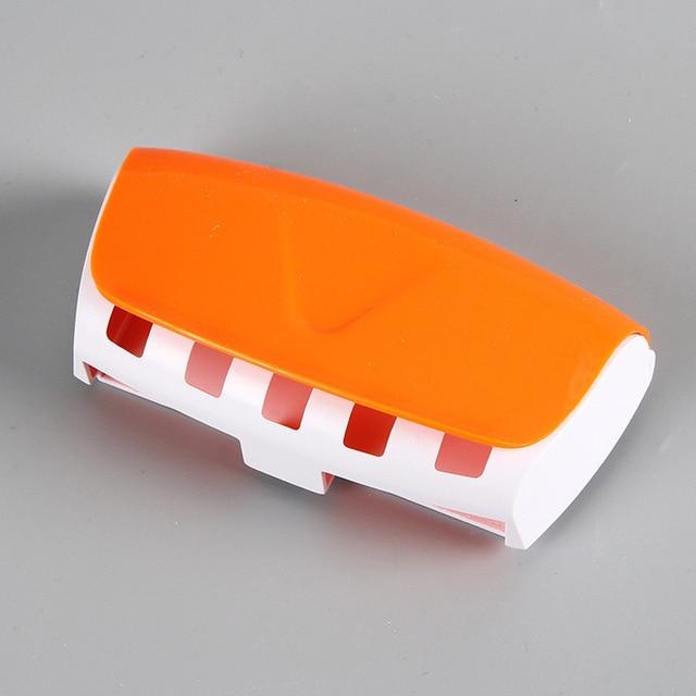 1 set Creativo di Plastica Automatico Dispenser Dentifricio Pigro 5 Spazzolino Da Denti Titolare Spremi Bagno Ripiani Accessori per il bagno