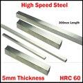300*40*5mm 300x40x5 300*50*5 300x50x5 5mm Dicke HRC60 HSS Rechteck Metallarbeiten Langweilig Bar Fly Cutter Schneiden Drehmaschine Werkzeug Bit-in Drehwerkzeug aus Werkzeug bei