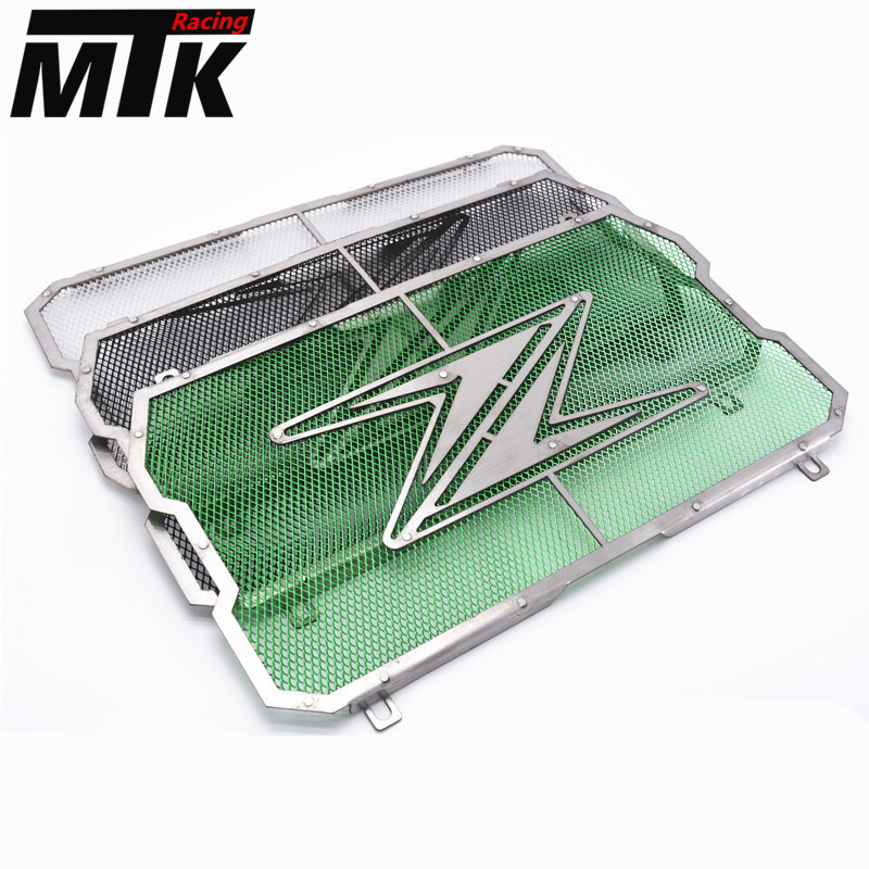 MTKRACING radiator protector cover Bezel Grille radiator guard for motorcycles KAWASAKI Z900 Z 900 2017 for kawasaki z900 2017 motorcycle radiator guard gloss stainless steel grille bezel radiator net protective cover