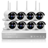 8ch 720P Wifi NVR Home Security System 1 0MP HD Wireless NVR Cameras Kit Plug And