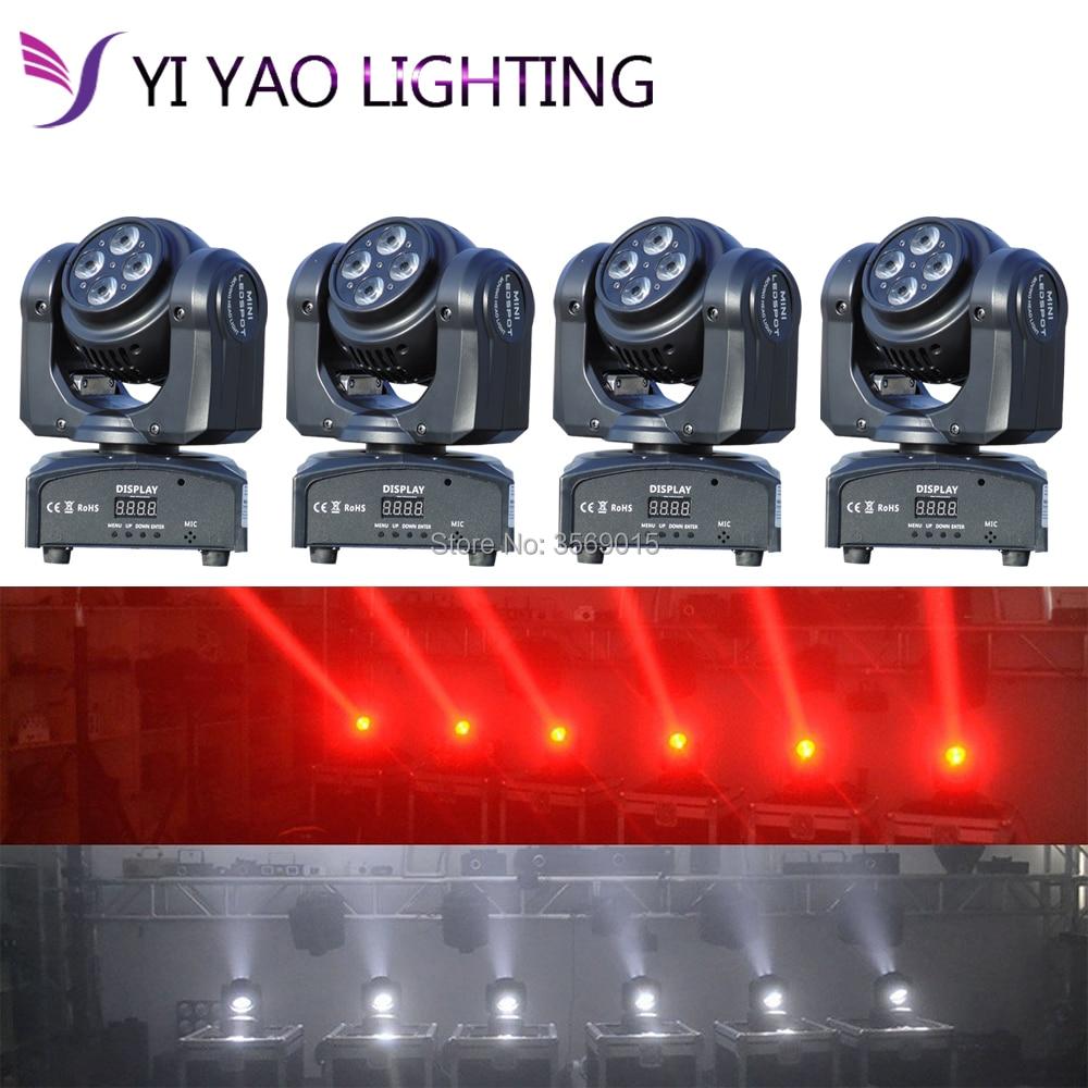 4PCS/LOT LED Inno Pocket Spot RGBW 4 in 1 double face Moving Head Light DMX dj stage lights багажники inno