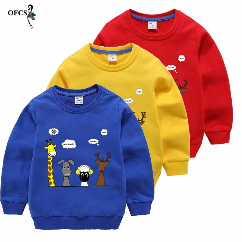 Infant Toddler Boys Girls Cartoon Elephant Sweatshirt Pullover Long Sleeve T-Shirt Casual Tops 1-6 Years Old