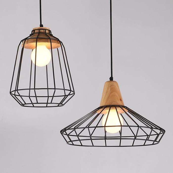 Nordic Iron cage Led Pendant Light,Creative bedroom Living room Hanging lamps E27 Holder Led Pendant Light for Home Lighting