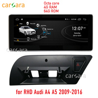 4G RAM 64G ROM Android radio upgrade for RHD Audi A4 A5 2009 2016 10.25 touch screen GPS Navigation dash multimedia player