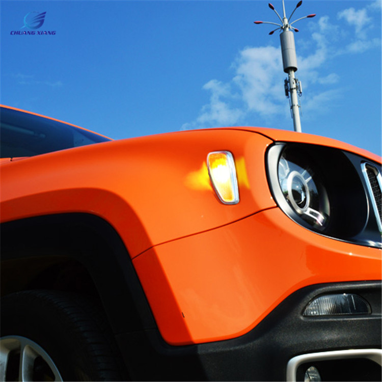 Luhuezu 2pcs LED Turn Signal Light Yellow Color Side Lamp For Jeep Renegade Accessories 2015 2016 2017 luhuezu abs chromed door handle cover handle bowl cocver for jeep renegade accessories 2015 2016