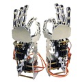 5DOF Гуманоид Пять Пальцев Металла Манипулятора Левая Рука и Правая Рука с A0090 Сервоприводы для Робота DIY